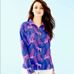 NWT Lilly Pulitzer Popover Royal Purple Zebra Sz M